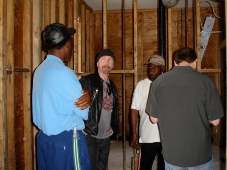 U2's The Edge meets with musicians affected by Hurricane Katrina