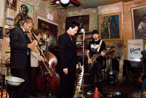 Music Rising helped re-open the Preservation Hall Jazz Club in New Orleans after Hurricane Katrina